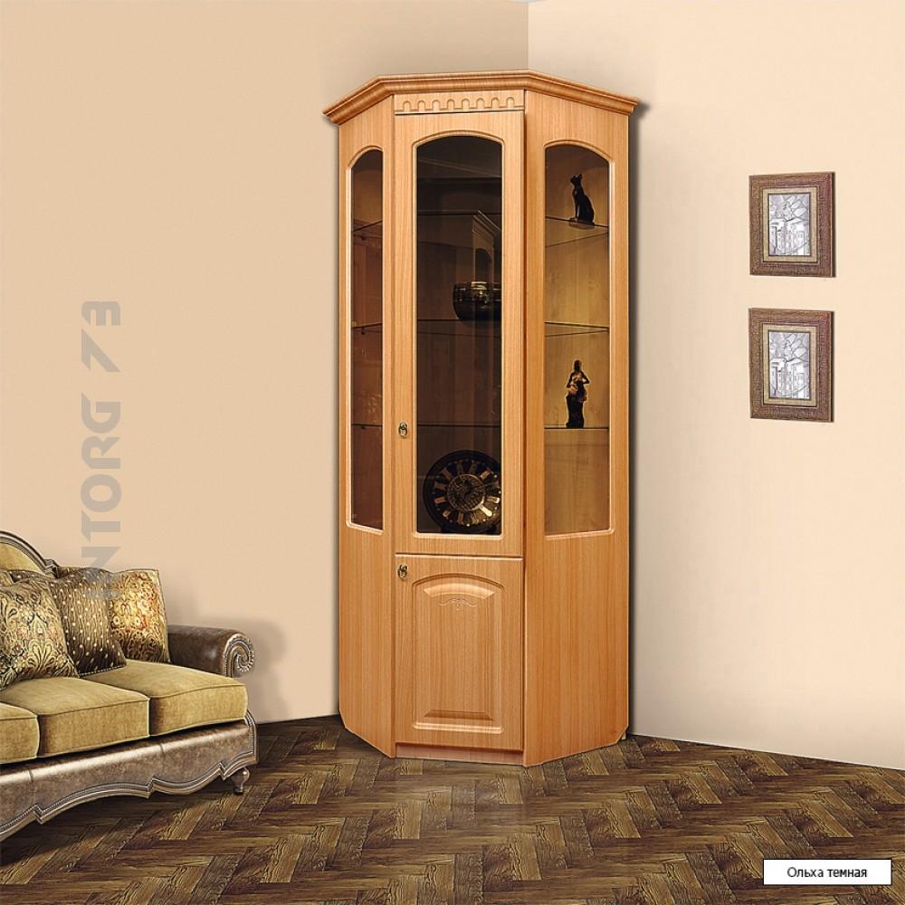 Фото угловых сервантов для гостиной: шкаф, витрина, буфет, с.