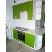 Кухня по индивидуальному проекту. Олива/белый; наружный угол
