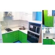 Кухня угловая по индивидуальному проекту в частный дом