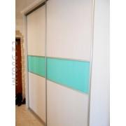 Гардеробная, двери стекло с плёнкой Oracal