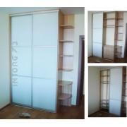 Шкаф-купе встроенный, стекло с плёнкой Oracal