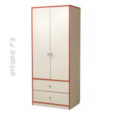 Шкаф 2-х дверный для одежды Юниор-10. ЦВЕТ НА ВЫБОР