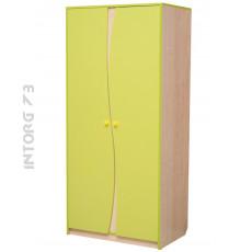 Шкаф 2-х дверный для одежды Юниор-11. ЦВЕТ НА ВЫБОР