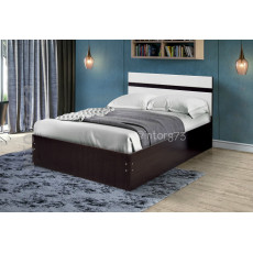 Кровать Венеция-8 с ортопедическим основанием на металлокаркасе 140х200 см., ЦВЕТ НА ВЫБОР