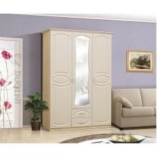 Мечта Шкаф 3-х створчатый, цвет на выбор, МДФ с зеркалом